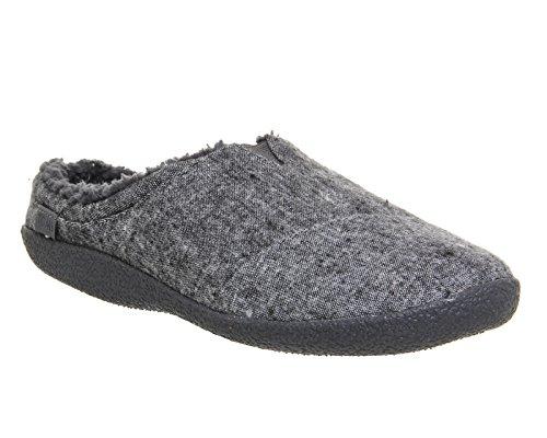 Toms Berkeley Slippers Grey Slub Textile 10009117 Mens 13