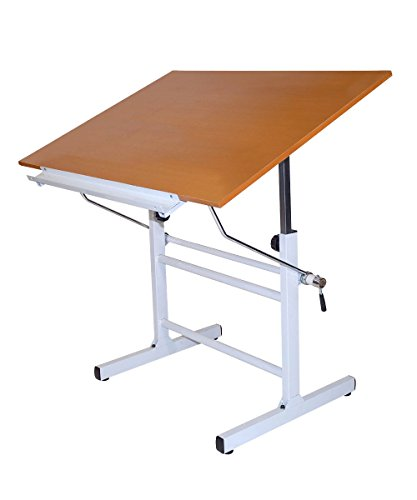 Home Office Furniture Martin Bel Aire Nuevo Drawing or Drafting Table White Top by Generic