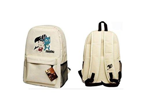 Fairy Tail Anime White Full Size School Backpack