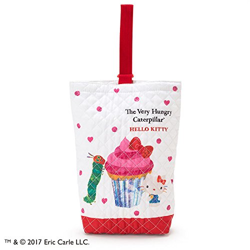 Hungry Caterpillar Costume Ideas (Sanrio Hello Kitty × The Very Hungry Caterpillar quilting shoes bag Heart From Japan New)