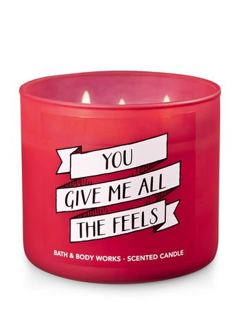 "Bath and Body Works 3-Wick Scented Candle ""You Give Me All The Feels"" in Warm Vanilla Sugar 14.5 Ounce"