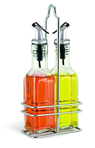 Cuisinox Oil and Vinegar Cruet Set with Caddy, Silver ()