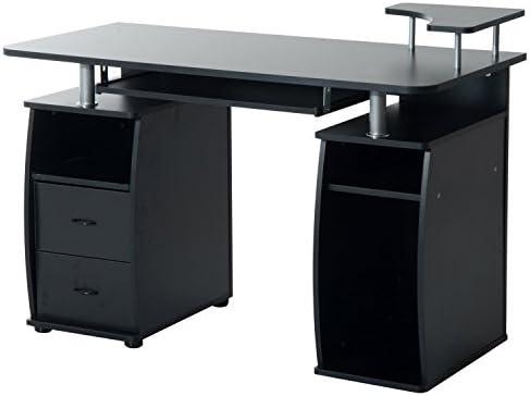 HOMCOM Mesa de Escritorio para Ordenador - Mobiliario de despacho ...