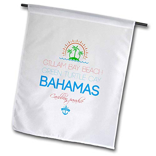 Furniture Turtle Bay - 3dRose Alexis Design - Caribbean Beaches Bahamas - Gillam Bay Beach, Green Turtle Cay, Bahamas. Summer Vacation Gift - 18 x 27 inch Garden Flag (fl_318418_2)