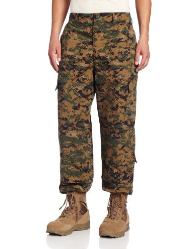 Trouser Uniform (Propper Men's 65P/35C ACU Trouser, Woodland Digital, Small Regular)