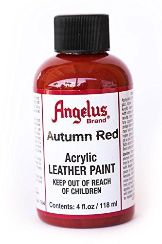 Angelus Leather Paint 4 Oz Autumn Red (Crimson Red Spray Paint)
