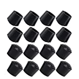 Folding Chair Leg Caps Anpatio 16pcs Chair Leg Caps Rubber Leg Tips Stools Table Foot Cover 7/8 inch Black Antislip Prevent Scratches Round