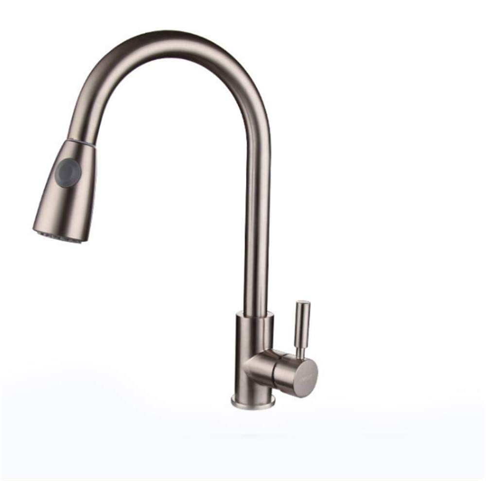 Water Tap Kitchen Taps Faucet Modern Kitchen Sink Taps Stainless Steelzinc Alloy Cold and Hot Pull Faucet Kitchen Dishwash Basin Faucet