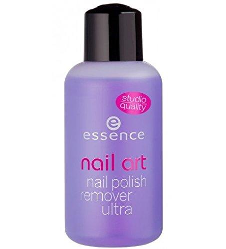 Essence Nail Art Nail Polish Remover Ultra Acetone-Free Inhalt: 150ml Nagellackentferner speziell Entwickelt für alle Nageldesigns mit aufhellendem Effekt. Ohne Acetone für Kunstfingernägel geeignet.