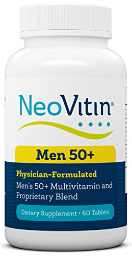 NeoVitin Men's 50+ Multivitamin/Multimineral with Vitamin B, Vitamin D, Calcium, Vitamin D, L-Carnitine, Asian Ginseng Root Powder, Green Tea Leaf Extract, Turmeric Root Extract For Sale