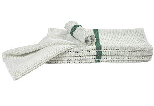 Nouvelle Legende 14 X 18in Ribbed Bar Mop Microfiber Towels (12 Pack) (Fiber Stripe)