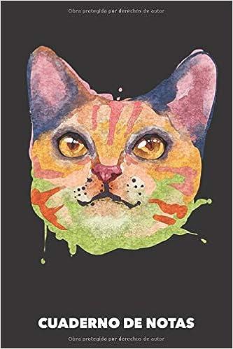 Cuaderno de Notas: Gato Acuarela A5 pautadas - 120 ...
