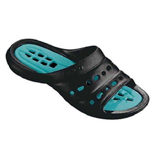 Beco Aqua agua playa piscina Zapatillas para piscina zapatilla antideslizante en calzado negro (9027) Negro - negro