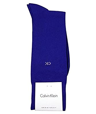 Calvin Klein Men's Combed Cotton Socks, True Royal, 7-12