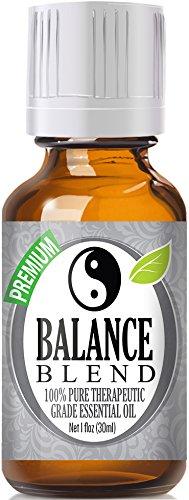 Balance Essential Oil Blend 100% Pure, Best Therapeutic Grade - 30ml / 1 (oz) Ounce - Ho Wood, Frankincense, Lemon, Camphor, German Chamomile, Ravensara