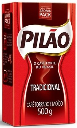 Pilão Roasted and Ground Coffee 17.6oz | Café Torrado e Moído 500g (Pack of 08) by Pilao