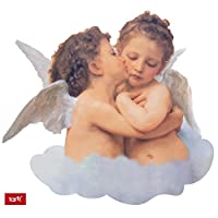 Angels Poster-Sticker Wall-Tattoo - The First Kiss, 1882 (24 x 22 inches)