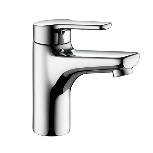 KCW 12.361.042.127 Piana Single Hole Faucet with Pop-Up, Stainless ()