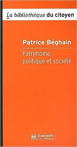En ligne Patrimoine, politique et société pdf, epub