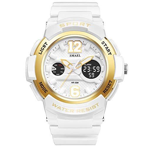 LED Big face Waterproof Women Watch Top Brand Quartz Watch Sports Fashion Girls Wrist Watches ()