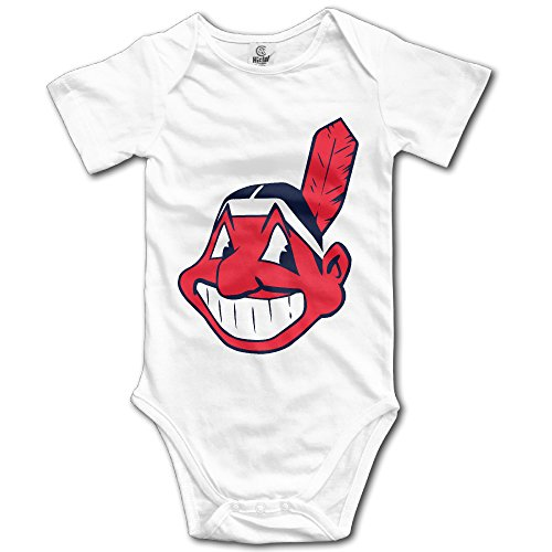 [JACOBO Newborn Baby Cleveland Baseball Team Logo Short Sleeve RomperTank Tops] (Cleveland Costumes)