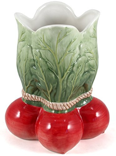 Fitz Vase - Radish Collectible Vegetable Ceramic Vase/Utensil Holder