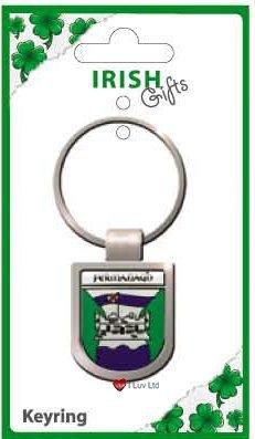 Amazon.com: Llavero escudo de Fermanagh con escudo del ...