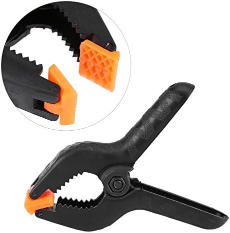 10個セット スプリングクランプ 木工用 木工クリップ 強力なプラスチック製 DIY工具 固定クランプ ハンドクランプ 取り外しが簡単 固定 作業工具