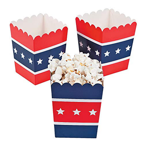 Fun Express - Patriotic Popcorn Boxes (24pc) for
