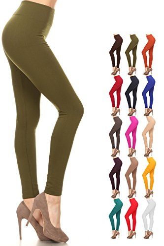 Fleece Leggings (One Size (Size 0-12), FLR-Olive) ()