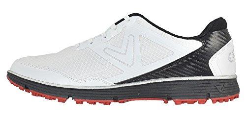 Callaway Men's Balboa Vent Golf Shoe, White/Black, 8.5 D US by Callaway (Image #1)