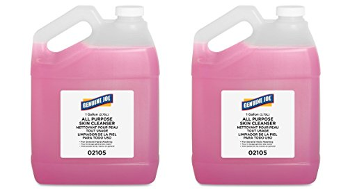 Genuine Joe rQqUQw GJO02105 Liquid Hand Soap with Skin Conditioner, 1 gallon Bottle, Pink, 2 Units