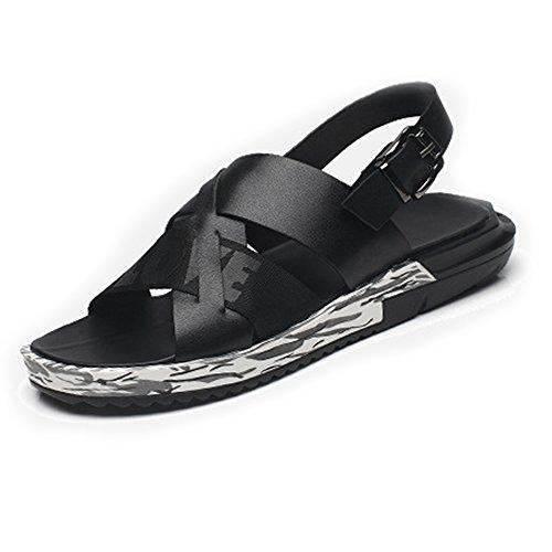 Sandalo da uomo Scarpe gentiluomini Sunny 41 Nero Nero Dimensione per Antiscivolo casual traspirante EU amp;Baby Colore UpWIUnT