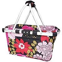 Shop & Go Carry Basket Double Handle Floral Blooms