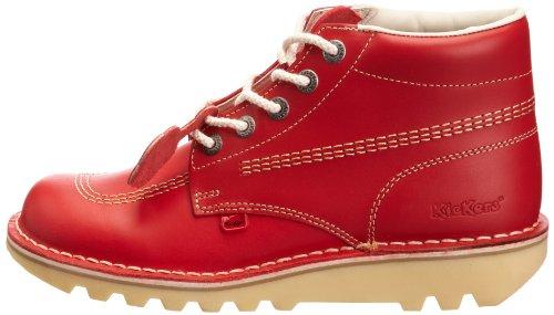 Kickers Heren Kick Hi M Kern Rood Natural Nat Leather Lace Up Enkellaarzen Maat 8