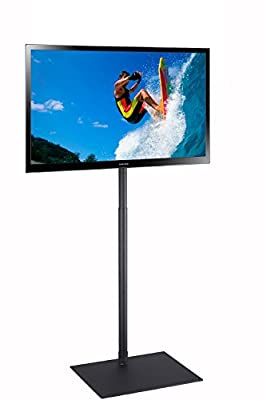 "Elitech TV Display Portable Floor Stand Height Adjustable Mount for Flat Panel LED LCD Plasma Screen 32"" to 55"""
