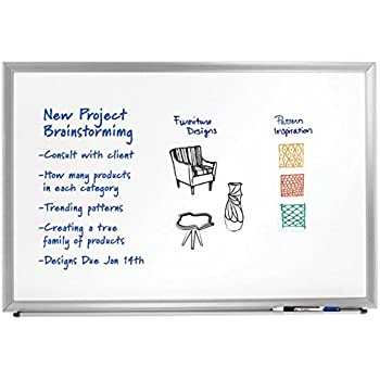 Amazon.com : FORAY Aluminum-Framed Dry-Erase Board With
