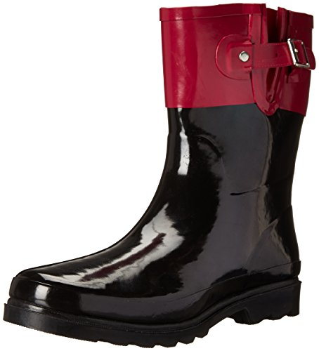 Western Chief Women Women's Waterproof Printed Mid Height Rain Boot, Top Pop Pink, 11 M US