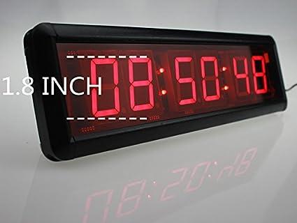 573997abc34c W mando a distancia de pared Reloj Digital Led Tamaño grande de deporte Big  reloj