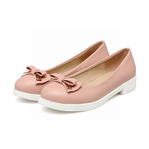 Carolbar Womens Bows Cute Sweet Party Lolita Flats Loafers Shoes Pink Aif7t1Mvn