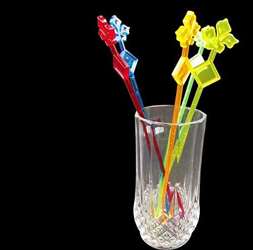 Muddler Cocktails 50pcs/pack Colorful Stirring Bar Creative Decoration