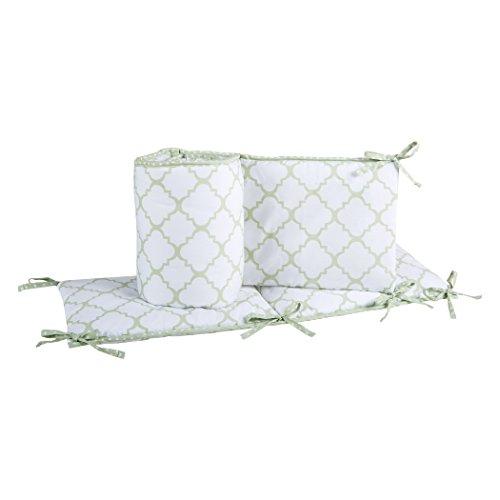 Trend Lab Sea Foam Crib Bumpers, Sage