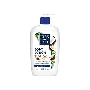 Kiss My Face Moisturizer with Coconut Oil, Body Lotion, 16 Ounce