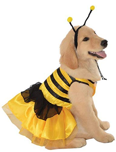 Yellow Black Baby Bumblebee Bug Insect Dog Pet Costumes Size Large 22