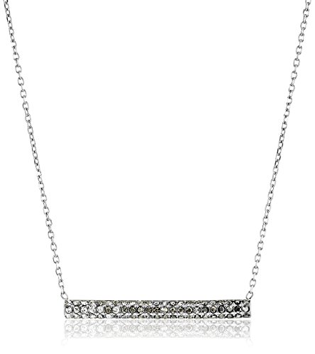Fossil Ombre Tube Silver Chain Necklace, 18