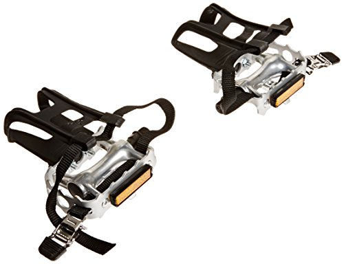 Diamondback 9/16 Spindle Alloy ATB Pedals with Clips and Straps, -