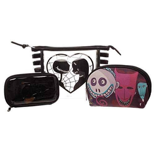 Bioworld Nightmare Before Christmas Jack/Sally Jrs. Cosmetic 3 Piece Standard,Black for $<!--$22.84-->