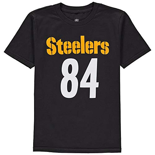 Outerstuff Antonio Brown Pittsburgh Steelers #84 NFL Youth Mainliner Name & Number T-Shirt (Youth Medium 10/12) -