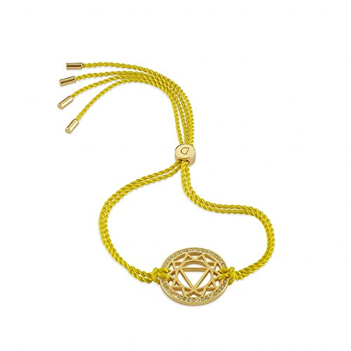 Daisy Yellow Gold Solar Plexus Swarovski Crystal Chakra Bracelet