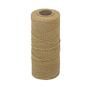 Tenn Well Bakers Twine, 3Ply 109Yard Kitchen Cotton Twine Food Safe Cooking String Perfect for Trussing and Tying Poultry Meat Making Sausage DIY Crafts and Christmas Decoration(Brown)
